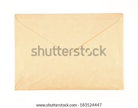 Vintage envelope isolated on a white background