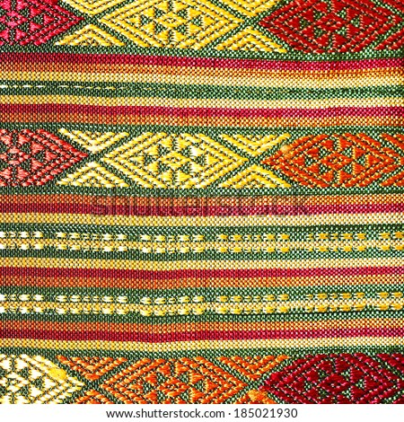 Vintage fabric Thailand is made of hand-woven cotton fabric. Are most commonly used in the Northeast of Thailand.