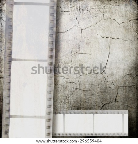 Vintage film strip background - stock photo