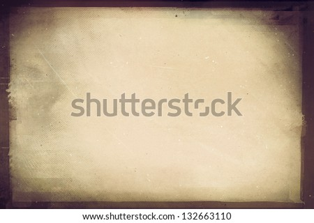 Vintage film strip frame - stock photo