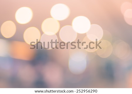 Vintage filter Blurred background : Colorful store blur background with bokeh - stock photo