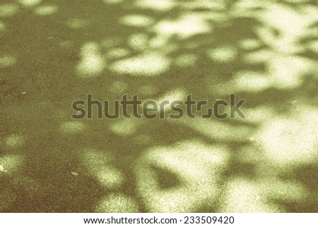 Vintage filtered tree shadow on cement floor, abstract background - stock photo