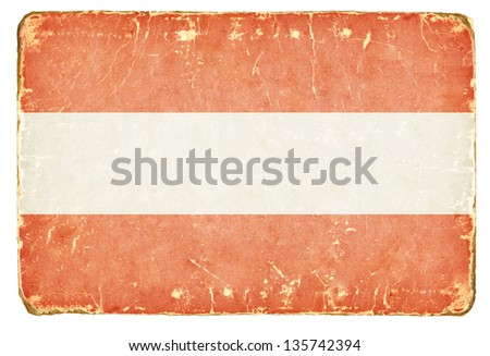 Vintage Flag of Austria. - stock photo