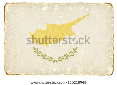 Vintage flag of Cyprus. Background. - stock photo