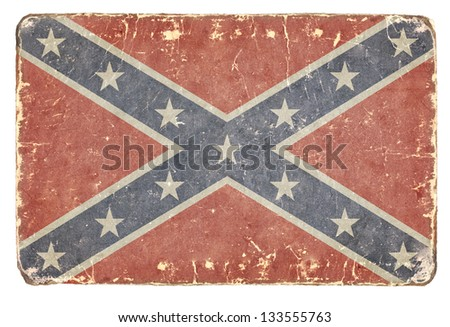 Vintage flag of the Confederacy. Background.