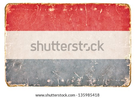 Vintage flag of the Netherlands. - stock photo