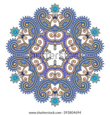 Vintage floral decorative pattern for design, print, embroidery. Raster version. - stock photo