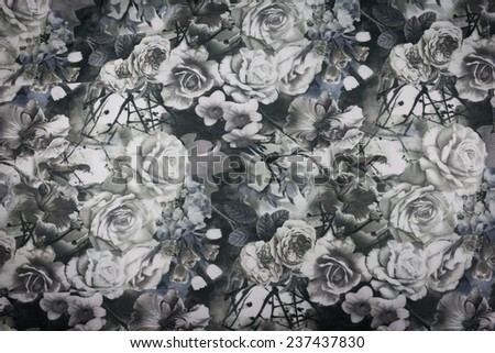 Vintage floral seamless pattern. - stock photo