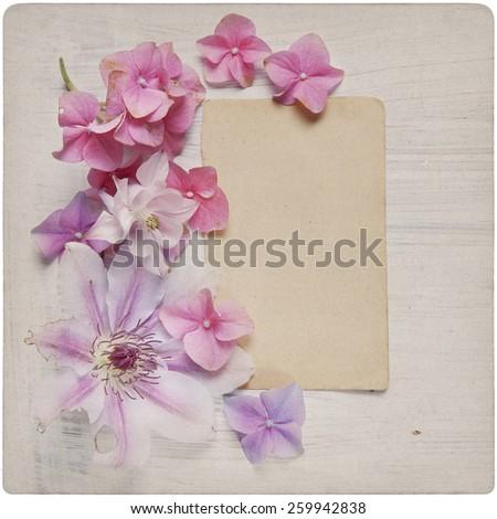 Vintage Flower Background  - stock photo