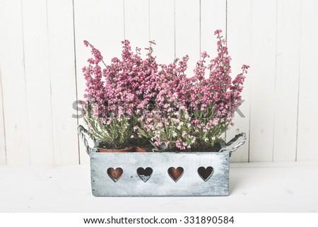 Vintage flower decoration - stock photo