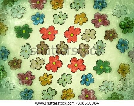 vintage flower texture, background - stock photo