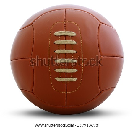 Vintage football ball - stock photo
