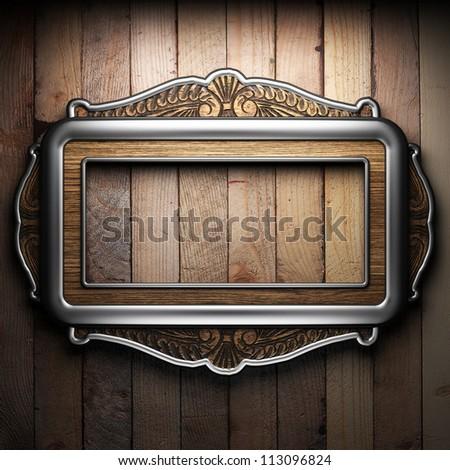 vintage frame - stock photo