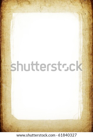 Vintage frame background with isolated center (copyspace) - stock photo