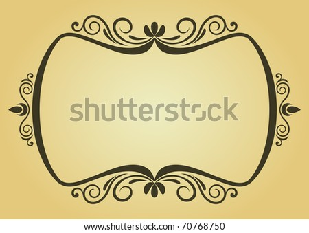 Vintage frame in victorian style for design as a background. Vector version also available in gallery