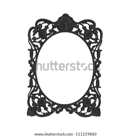 Vintage frame on isolated on white background - stock photo