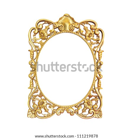 Vintage frame on isolated on white background - stock photo