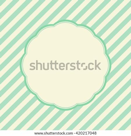 Vintage Frame on Retro green Background Design - stock photo