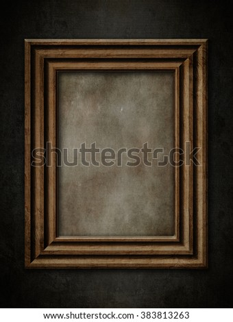 vintage frame on the black wall