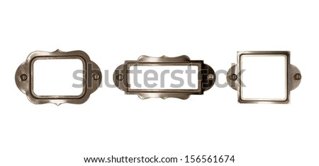 Vintage frame set. - stock photo