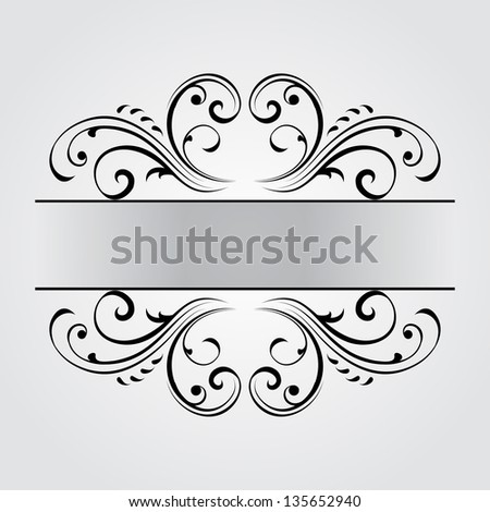 Vintage frame. Vector version also available in gallery. - stock photo