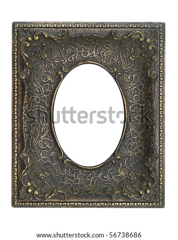 Vintage  frame with a decorative pattern. - stock photo