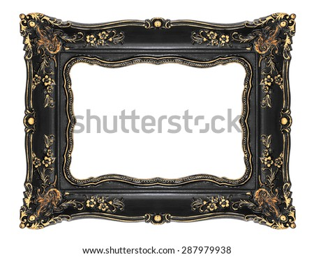 Vintage frame with clipping path - stock photo