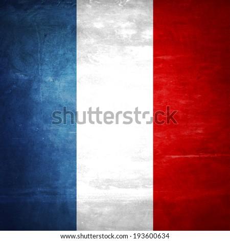 Vintage French flag background - stock photo