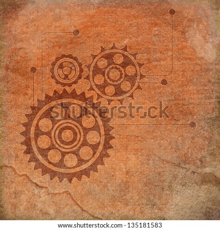 Vintage gears background