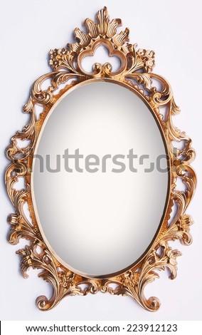 Vintage Gold Frame Magic Mirror Stock Photo (Royalty Free) 223912123 ...
