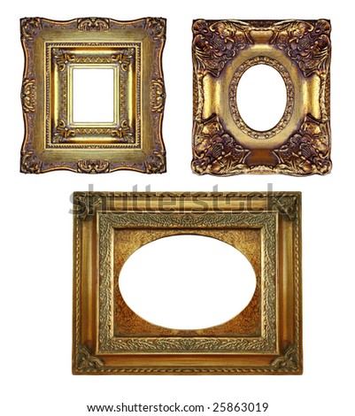 Vintage gold ornate frames, similar available in my portfolio - stock photo