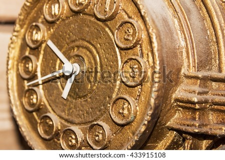 vintage gold watch. shallow depth of field - stock photo