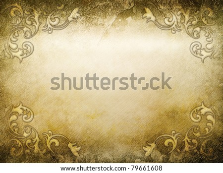 vintage golden background with elegant decor elements