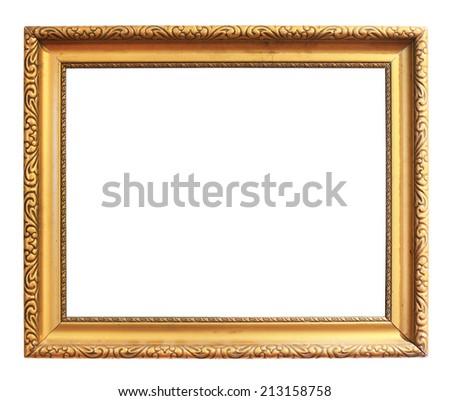 Vintage golden frame - stock photo