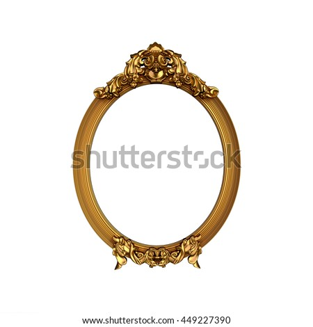 Vintage golden frame with blank space