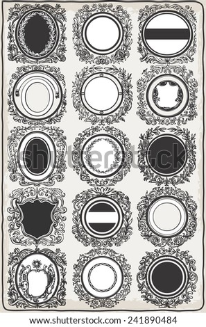 Vintage Graphic Garlands for Logos.  - stock photo