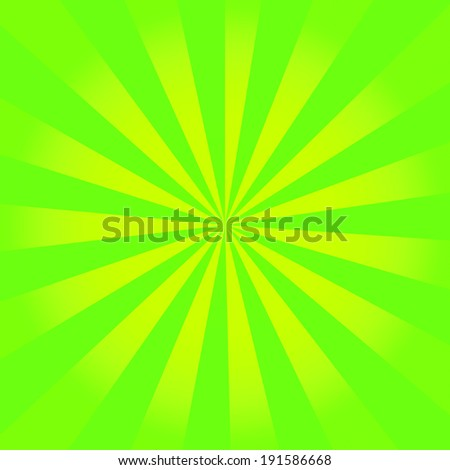 Vintage green and yellow rays background