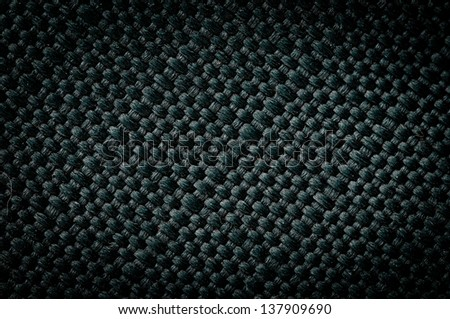 Vintage green canvas cloth texture background - stock photo