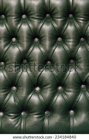Vintage green  leather texture closeup