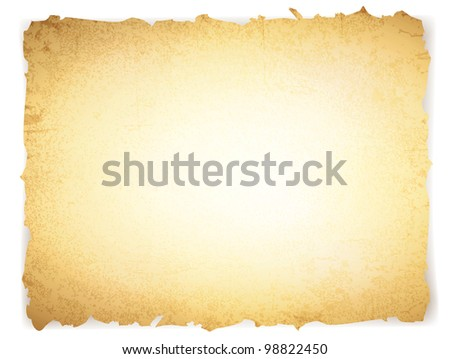 vintage grunge burnt paper with copyspace for your text - stock photo