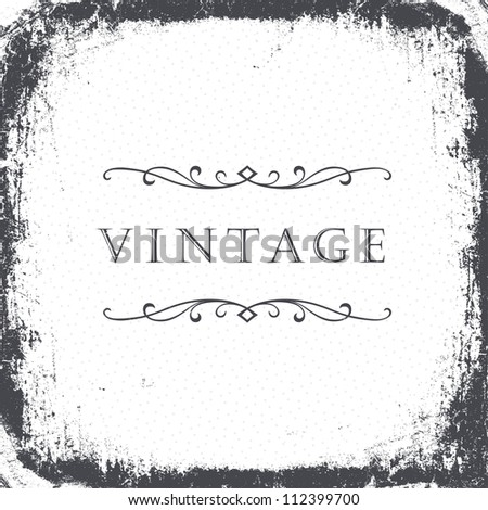 Vintage grunge frame background. Raster version, vector file available in portfolio.