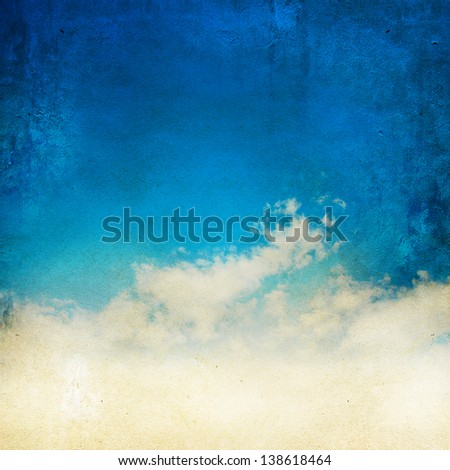 Vintage grunge sky background - stock photo