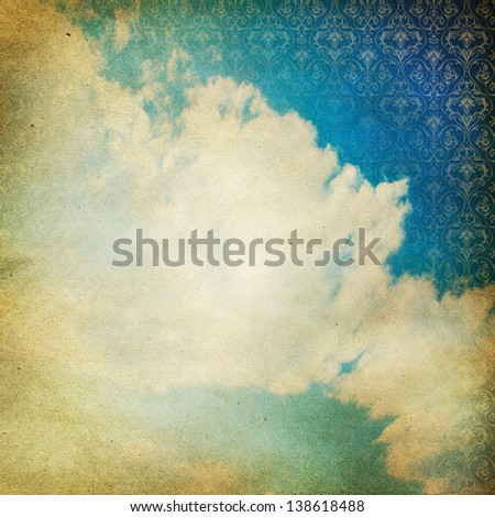 Vintage grunge sky background