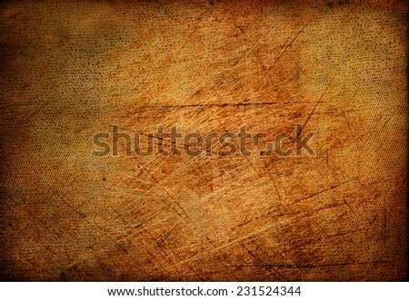 Vintage grungy background, old paper with scratches, retro style - stock photo