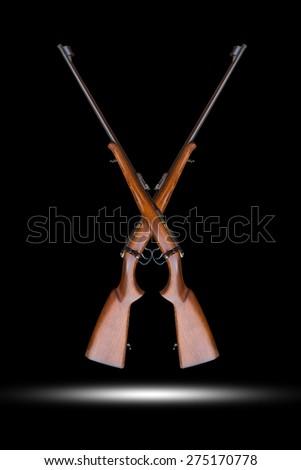 vintage gun isolated - stock photo