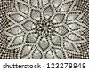 Vintage handcrafted doily - stock photo