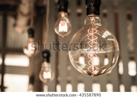 Vintage hanging lighting for home decoration - stock photo