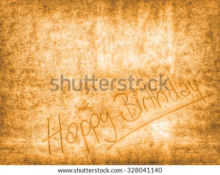 vintage Happy Birthday background template - stock photo