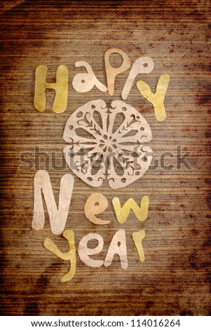 Vintage Happy New Year background.Happy New Year  lettering. - stock photo