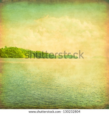 Vintage image of tropical sea. - stock photo